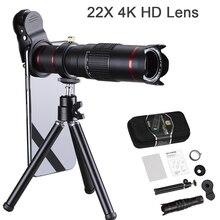 Orsda HD Mobiele Telefoon Telescoop 4K 22x Lente Super Zoom Lens voor Smartphone Tele voor iPhone Lens Super Zoom camera