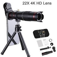 Orsda telefon komórkowy HD teleskop 4K 22x Lente Super soczewka powiększająca do smartfona teleobiektyw dla iPhone obiektywu Super aparat z zoomem