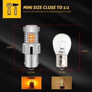 Image 3 - 2pcs Canbus Error Free 1156 BA15S P21W PY21W Lamp 7506 7507 Led Bulb T20 Car Rear Turn Signal Light For VW Jetta Golf 4 5 7 6 CC