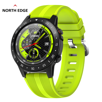 NORTH EDGE Men's Smart Watch GPS Full Screen Heart Rate Blood Pressure Sports Watch Altimeter Barometer Compass IOS Android north edge gps smart watch mens digital watch heart rate altitude barometer compass smartwatch men running sport fitness tracker