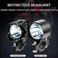 Wasserdichte Motorrad Scheinwerfer elektrische fahrzeuge licht T6 LED Strahler Helle 10W 4V Motorrad Roller Scheinwerfer Scheinwerfer auf