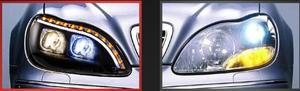 Image 2 - 1998 ~ 2005y רכב פגוש ראש אור עבור מרצדס בנץ w220 פנס S280 S320 S350 S500 S600 LED DRL HID ערפל עבור W220 פנס