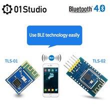 TLS-01 TLS-02 BLE Buletooth 4,0 Uart Transceiver прозрачный модуль трансмиссии TLSR8266F512 switch Wireless Arduino