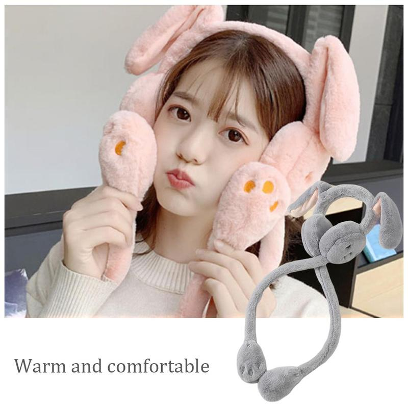 Cute Winter Earmuffs Fur Headphone Unisex Windproof Ear Warmer Moving Earmuffs Fur Fluffy Female Earmuff Warm Ear Muffs