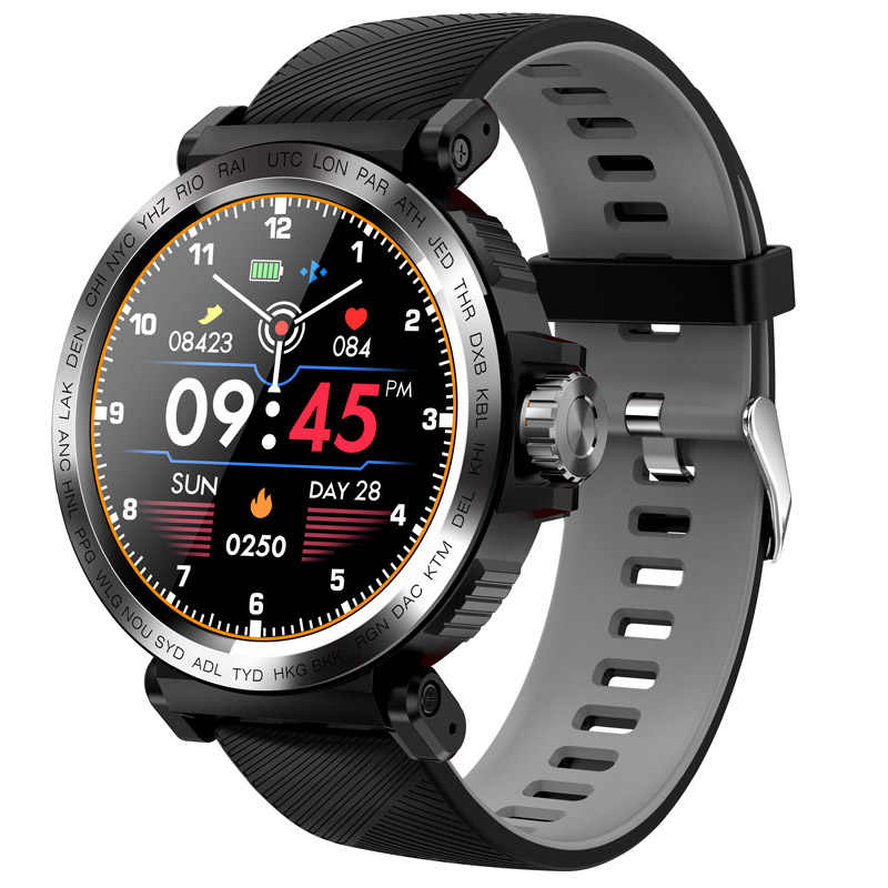 Senbono Sport IP68 Waterdicht Smart Horloge Full Screen Touch Mannen Klok Hartslagmeter Smartwatch Fitness Tracker Armband