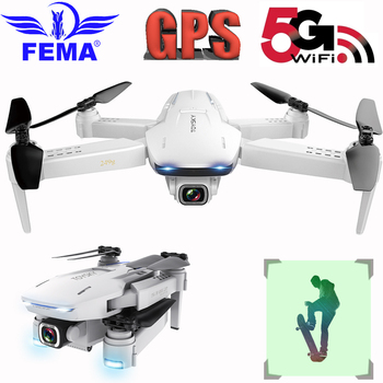 FEMA S162 GPS Quadcopter Drones with Camera Hd 4K Professional 5G WIFI FPV Foldable Remote Control Quadrocopter Drone RC цена 2017