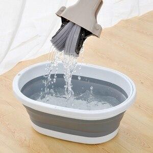 Image 1 - מתקפל פלסטיק דלי קמפינג לשטוף דלי עם ידית מתקפל רצפת סמרטוט ניקוי דיג רכב לשטוף דלי פריטים ביתיים