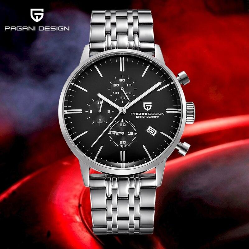 PAGANI DESIGN New Quartz Business Men's Watches Top Luxury Brand Men Chronograph Male Sports Waterproof Clock Relogio Masculino