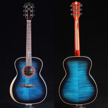 "ST.PAUL SOM-580 39"" solid flamed maple Acoustic guitar, acoustic electric guitar,(China)"