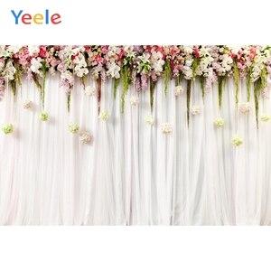 Yeele Свадебная церемония 3D Цветы Декор дерево фиолетовый фон для фотосъемки персонализированные фотографические фоны для фотостудии