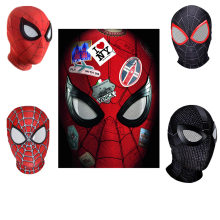 3D Raimi Spiderman/Lontano Da Casa/nel Spider-Verse/Maschere superhero Ferro Spider Man Cosplay costumi Maschera Superhero Halloween(China)