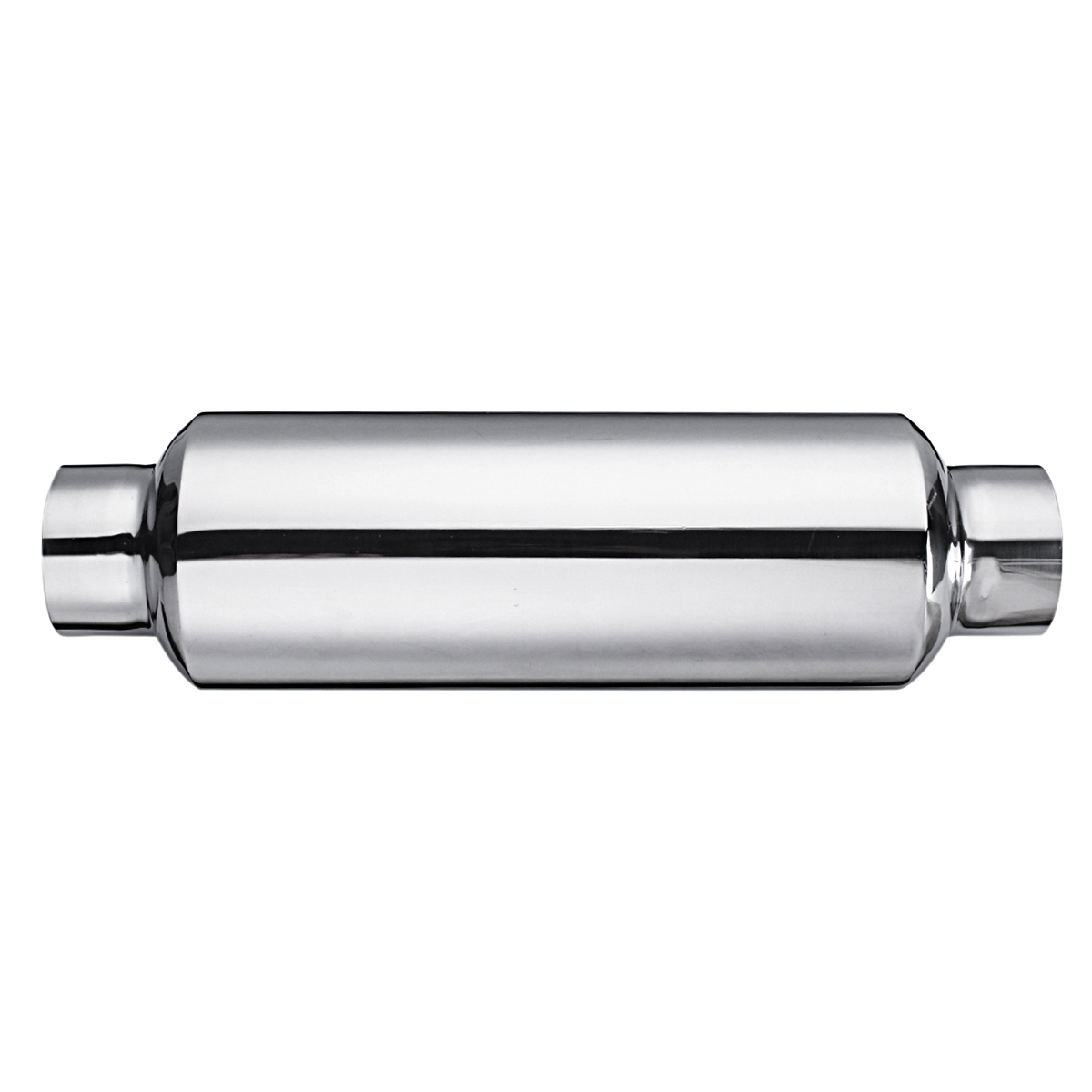 """Hot Sale Universal Stainless Steel Car Resonator Exhaust Muffler 2.5"""" inlet To 2.5"""" outlet Exhaust Tip Pipe Tube"""