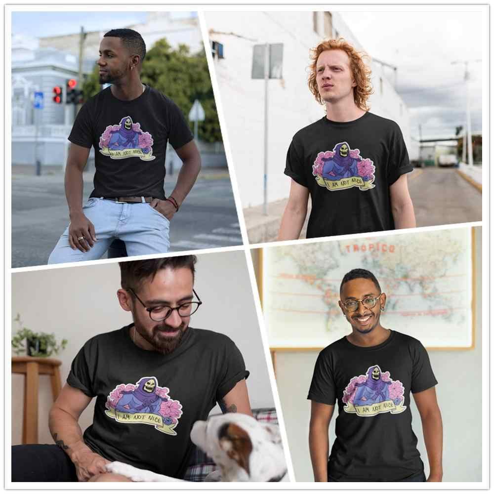 Skeletor T Shirt I AM NON BELLO T-Shirt Stampata Uomo Tee Shirt Oversize 100% Cotone Sveglio di Estate Breve Maglietta Del Manicotto