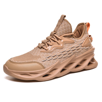 QZHSMY/Мужская обувь из летящей ткани; Мужская обувь для бега на открытом воздухе; кроссовки на шнуровке; размеры 39-46; дышащий светильник; zapatos ...