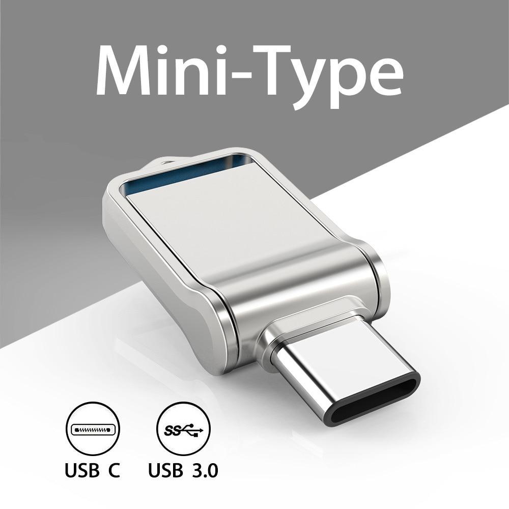 TOPESEL Мини 32 Гб 64 Гб 128 Тип C ультра двойной флеш-накопитель USB 3,0 флеш-накопитель флэш-накопитель u-диск