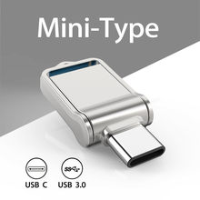 TOPESEL – Mini clé USB 128, support à mémoire de 32GB 64GB 3.0 GB, lecteur Flash de Type C