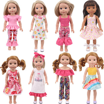 Doll Dress Skirts For 14.5 inch Wellied Wished Camille Ashlyn Kendall Emerson 38-40Cm Nancy American Doll Generation Toy DIY image