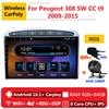 2 din 8 core android 10 auto radio stereo auto per Peugeot 308 sw cc t9 2009 2010 2011 2015 di navigazione DVD GPS Multimedia Player