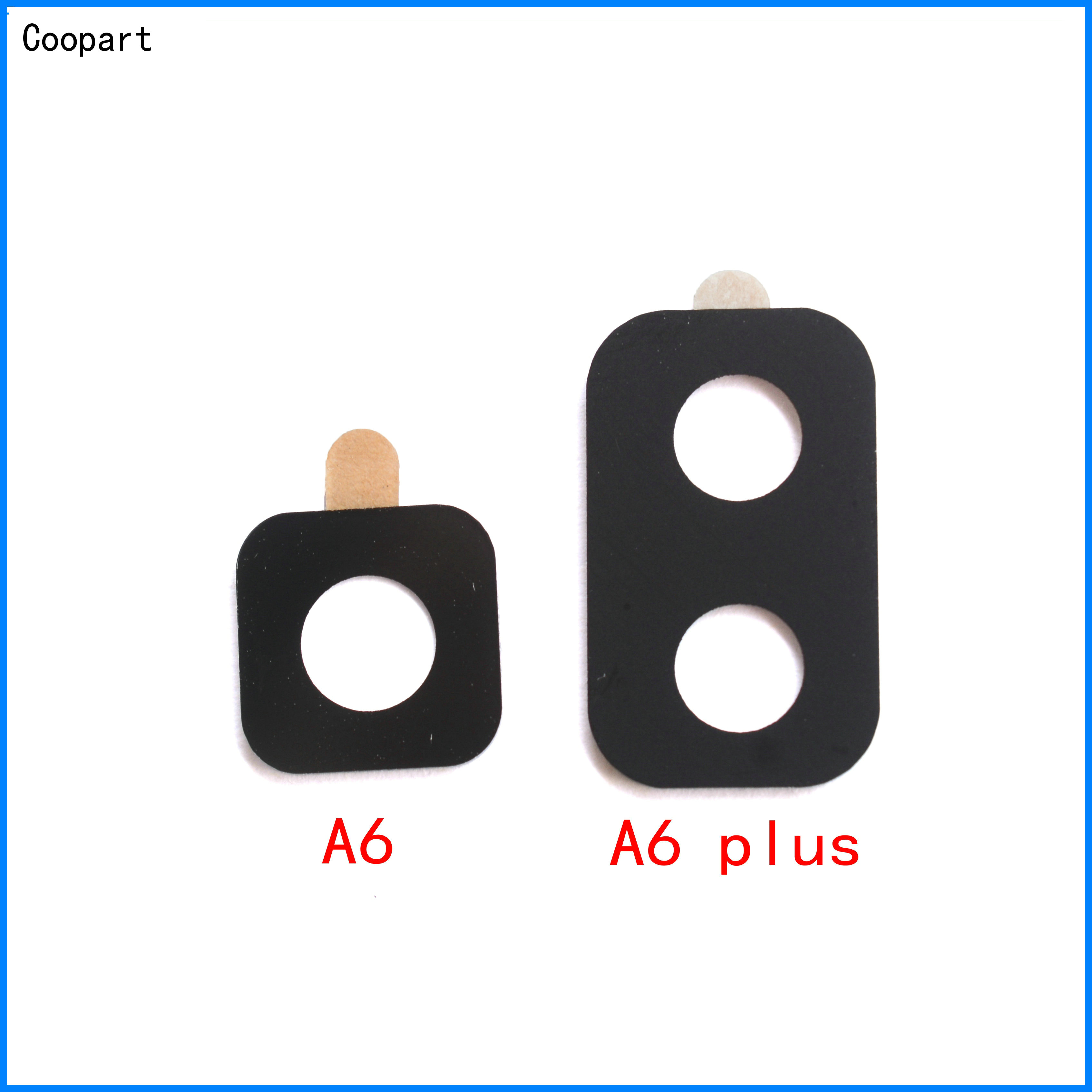 2pcs/lot Coopart New Back Rear Camera Lens Glass Replacement For Samsung Galaxy A6 /A6 Plus /A6 + (2018) Top Quality