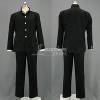 Role Play Clothing Japanese Boys School Uniform Black Chinese Tunic Suit Cosplay Costumes S XL In Stock Or Custom Make Any Size