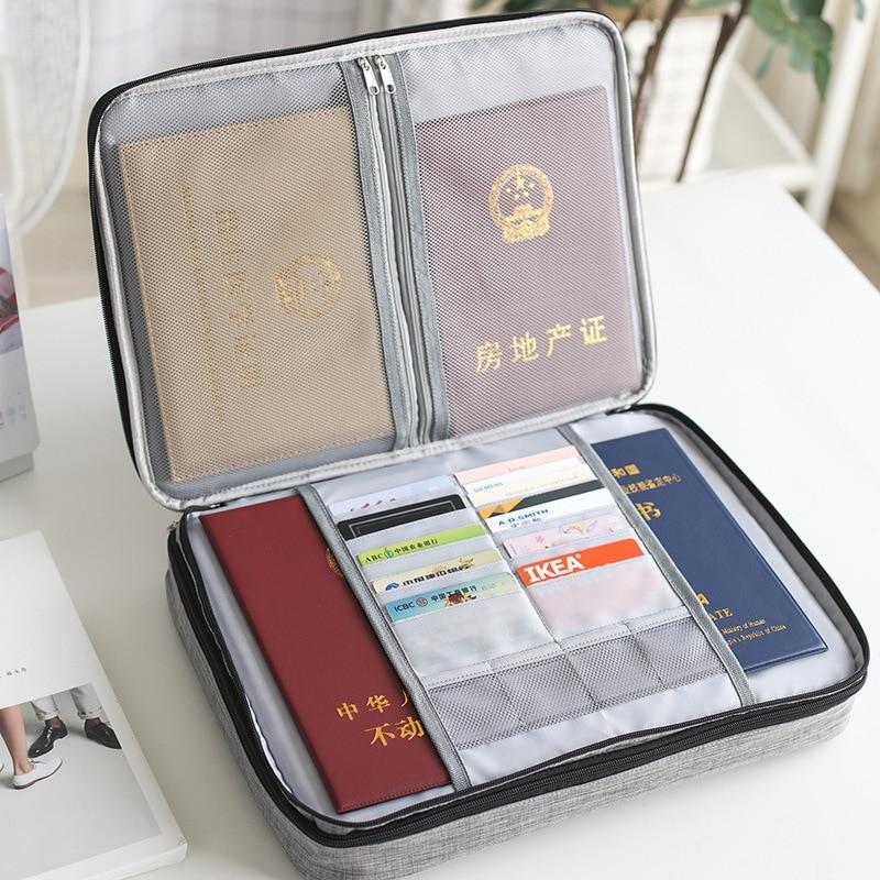Big Capacity Men Document Bag Waterproof Business Briefcase File Zipper Pouch Travel Man Handbag Office Organizer Accessories