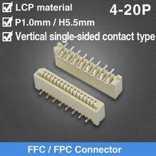 1mm Pitch Vertical Single Side Contact Type Socket FPC FFC F