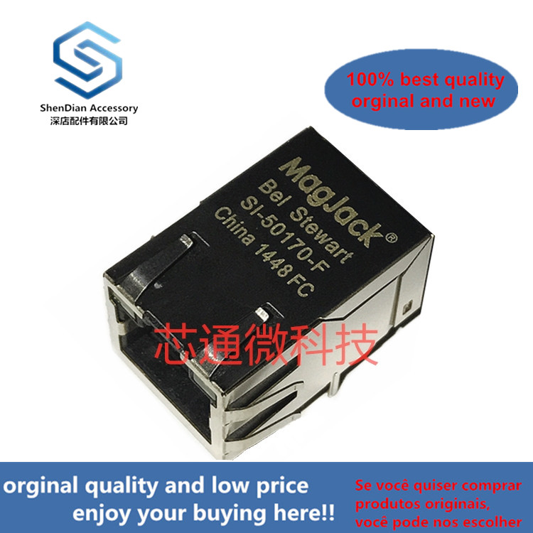1pcs 100% Orginal New SI-50170-F BEL RJ45  Network Socket Network Interface Transformer Filter Real Photo