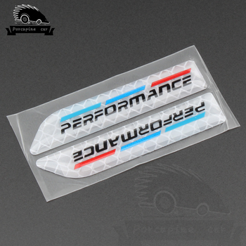 2PCS Car Decal Badge Auto Accessories Sticker M Power Performance For BMW 1 3 4 5 6 7 X M E46 F30 E90 E60 F20 F10 E36 E39 E87 image