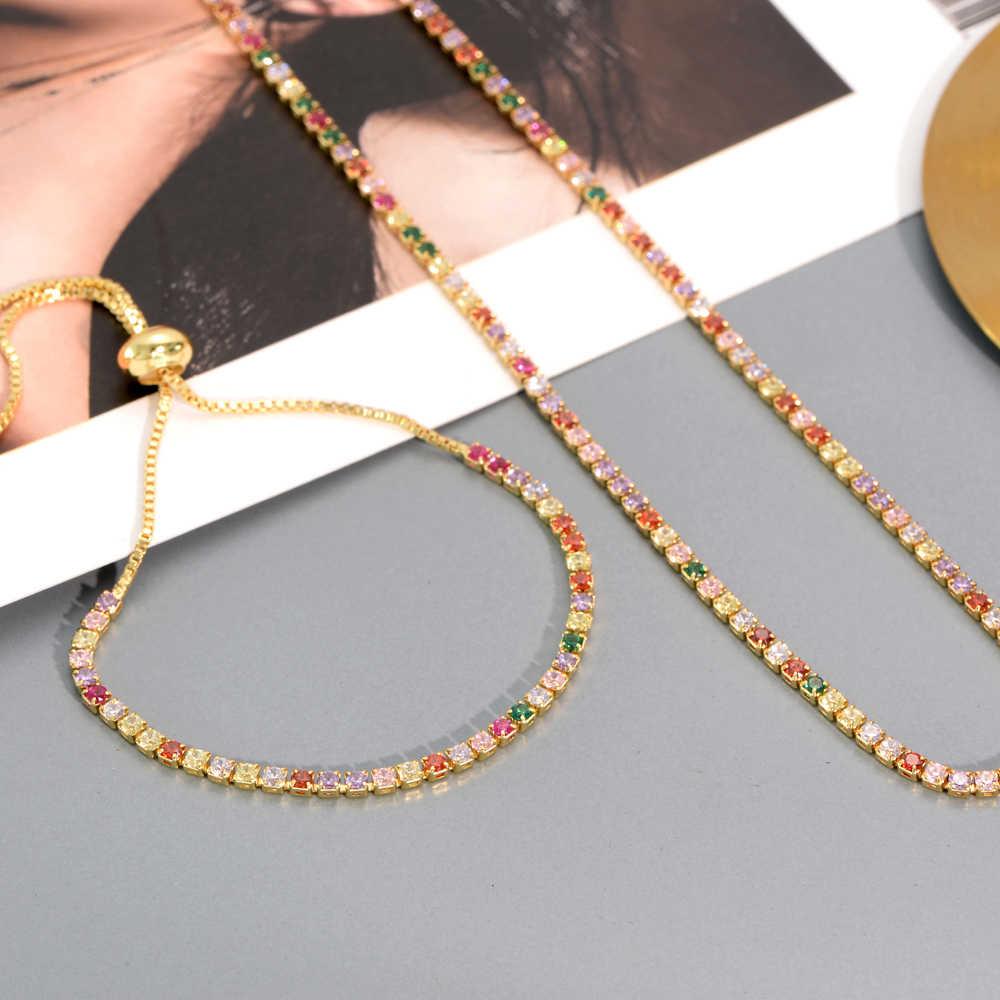 หรูหราผู้หญิงสายรุ้งแหวนคริสตัลเครื่องประดับ DIY GOLD zircon แหวนเริ่มต้น dropshipping สำหรับของขวัญผู้หญิง