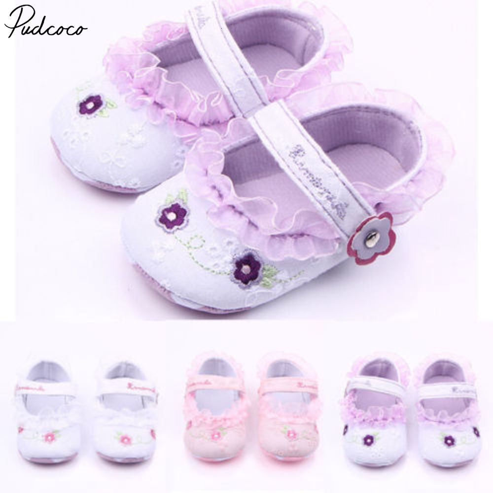 Pudcoco Non-slip Infant Baby Girls Toddler Flower Shoes Booties Sole Shoes 3-12months