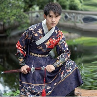 Tang Dynasty Ancient Chinese Costume Hanfu Dress Traditional Chinese Clothing For Men Han Dynasty Long Robes Dance Stage FF2282