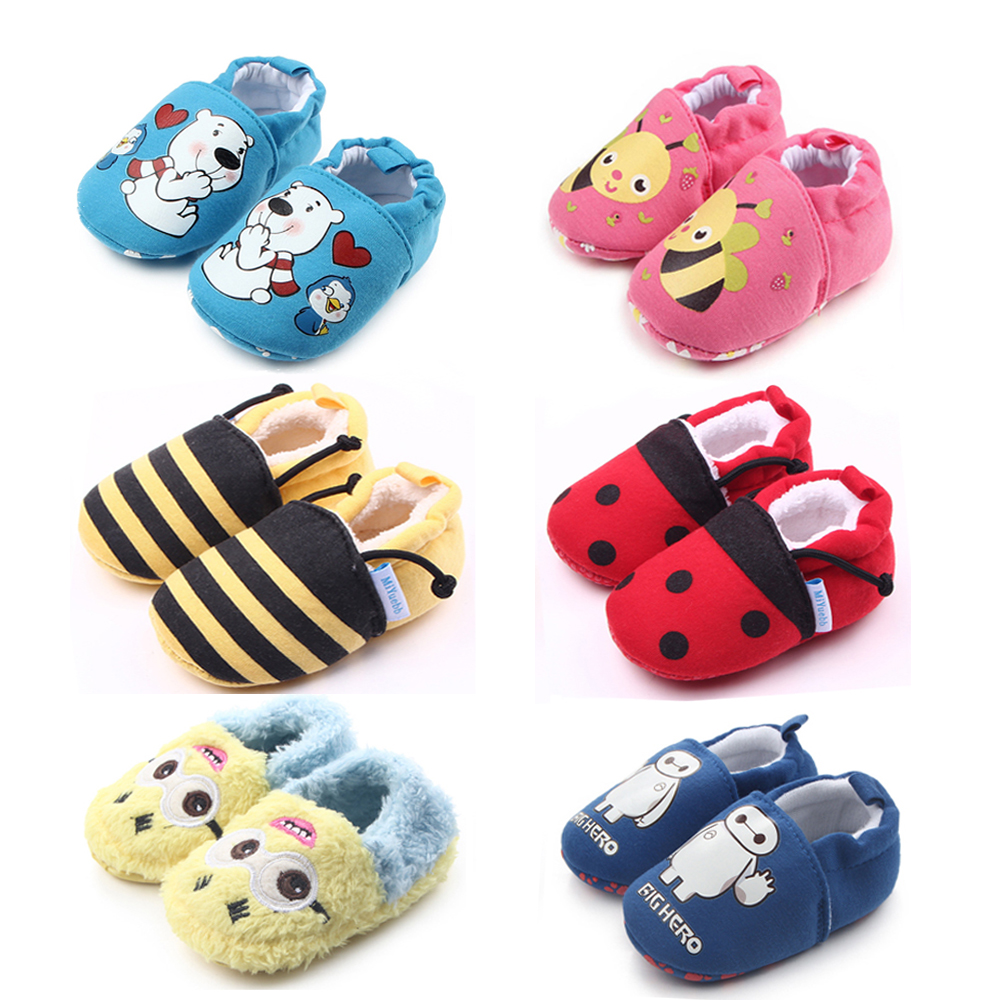 Newborn Baby Shoes Boy Girl Ankle Socks Multicolor Cute Star Toddler Prewalker Booties Cotton Winter Soft Warm Infant Crib Shoes