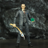 Custom Marvel Loki 6 Action Figure Laufey Odin son God of Lies Evil Legends With Scepter Tesseract Swords Weapons Toys Doll