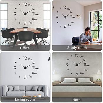DIY kreatywność prosty styl skandynawski 3D perforowane akrylowe cichy ścienny zegar nowoczesny salon wystrój domu ściany dekoracja ogrodowa tanie i dobre opinie CN (pochodzenie) Metal single-sided modern and simple round