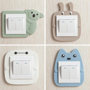 Panel-Sticker Wall-Decoration Glow-In-The-Dark Cartoon-Animals Home Children Cute Switch