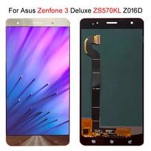 "FAST สต็อกสำหรับ ASUS ZenFone 3 Deluxe Z016S Z016D ZS570KL จอแสดงผล LCD Touch Screen Digitizer ASSEMBLY 5.7 ""สำหรับ ASUS ZS570KL LCD"