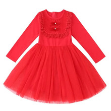 Spring Autumn Baby Girls Dress little girls Princess Dress Children Kids Dresses Baby Girls Clothes For party and wedding 3-12T db3094 dave bella spring baby girls leopard dress girls princess dress wedding party dress