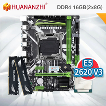 HUANANZHI X99 motherboard with XEON E5 2620 V3 2*8G DDR4 2666 NON-ECC memory combo kit set NVME USB3.0 ATX Server
