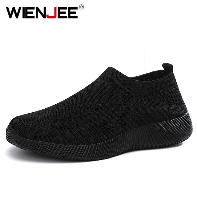 Mulher vulcanizada sapatos de alta qualidade das sapatilhas das mulheres deslizamento em apartamentos sapatos femininos mocassins plus size 42 andando plana 4