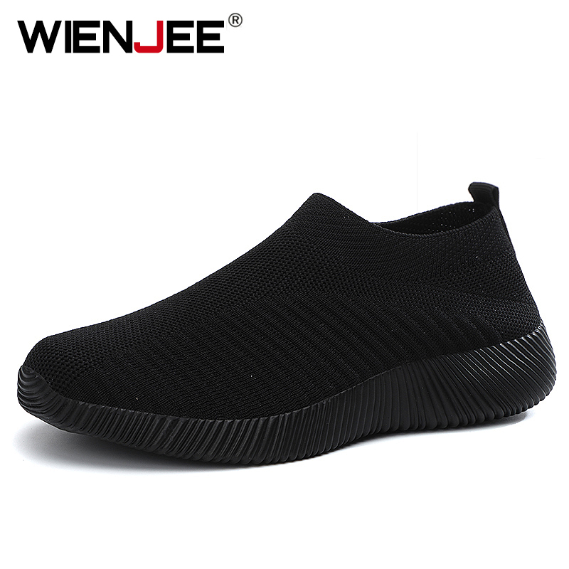 Women Vulcanized Shoes High Quality Women Sneakers Slip On Flats Shoes Women Loafers Plus Size 42