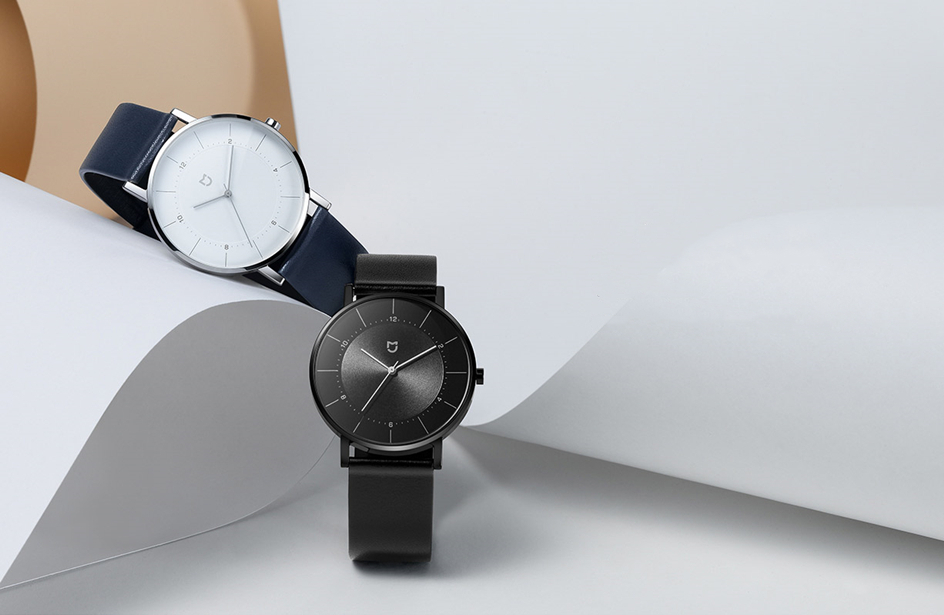 aço inoxidável dial pulseira de couro 3atm