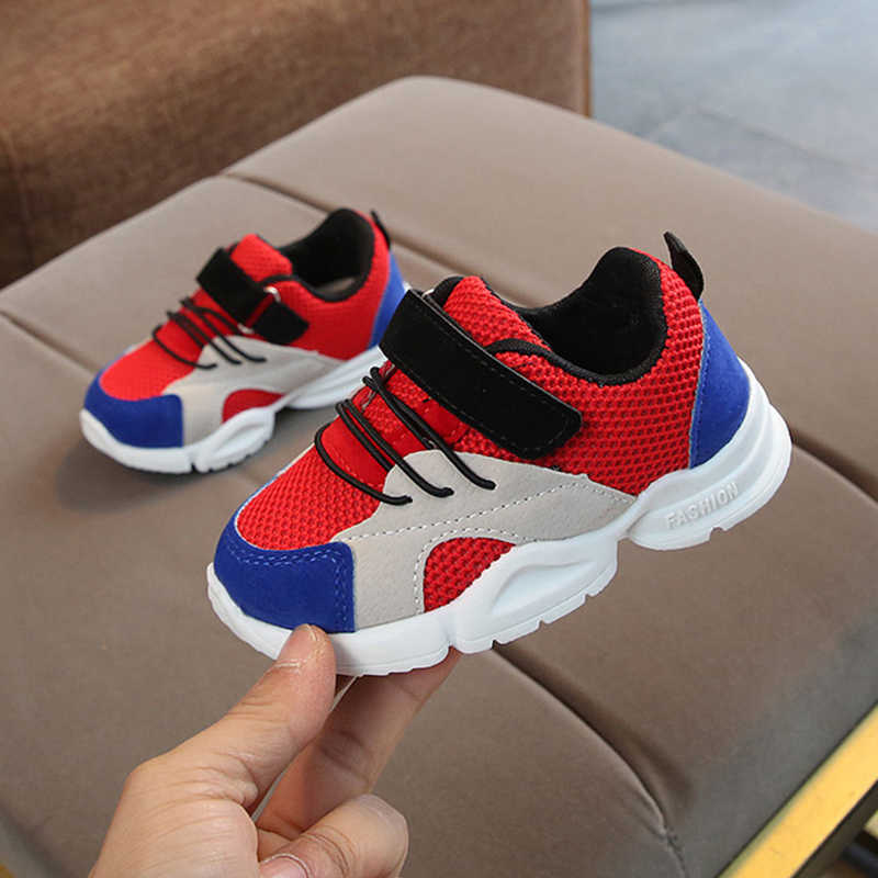 Children Sport Shoes Autumn Winter New Fashion Breathable Kids Boys Net Shoes Girls Anti-Slippery Sneakers Baby Toddler Shoes