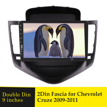 9 inches Car Radio Fascia For CHEVROLET CRUZE 2009 - 2014 Double Din Stereo Panel Dash Installation Dashboard CD DVD Frame Bezel image