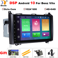 PX5 DSP 9 Android 10 Car NO DVD Radio for Mercedes/Benz/Sprinter/B200/W245/B170/W209/W169 VW Crafter with BT 4G Wifi GPS Radio