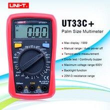 Multimètres numériques de taille de paume UNI T UT33C + testeur portatif électrique professionnel LCR mètre ampèremètre multitesteur 40 1000C