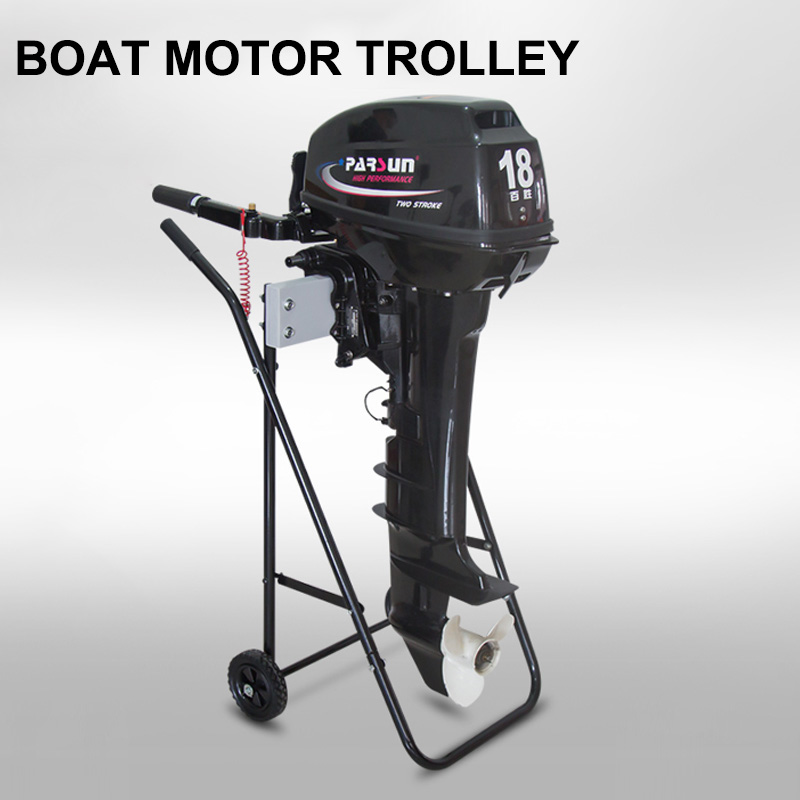 Poratble Boat Outboard Motor Trolley Folding Cart Carrier Engine Stand / Transport Wheels Outboard Motor Stand