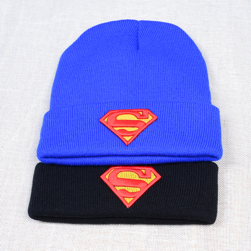 Superman Men Women's Winter Skullies Beanies Hats Skating And Skiing Warm Knitted Hat Leisure Outdoor Cap