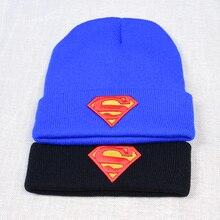Superman Men Women's Winter Skullies Beanies Hats Skating an