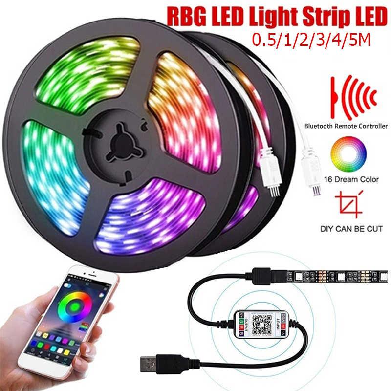 5V LED Strip Light USB 2835SMD RGB Diode Tape 0.5M 1M 2M 3M Flexible Neon Ribbon