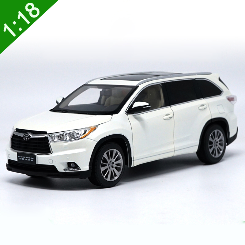 1:18 High Meticulous TOYOTA HIGHLAND Alloy Model Car Static Metal Model Vehicles With Original Box